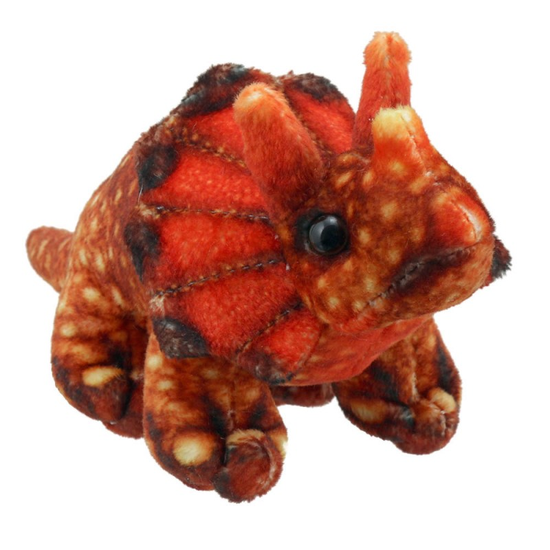 Triceratops (Orange) - Finger Puppets