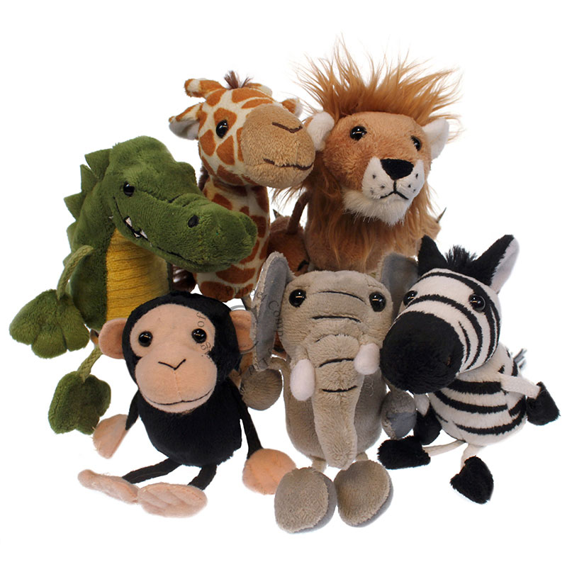 African Animals Set of 6 - Finger Puppets
