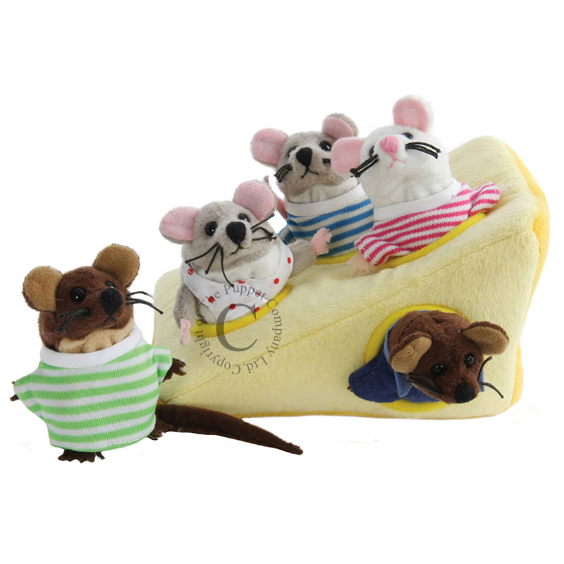 Mouse Family in Cheese - Hide-Aways