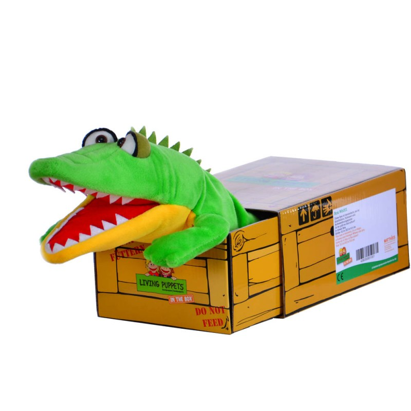 Schlawiner - Crocodile in the Box - Hand Puppet