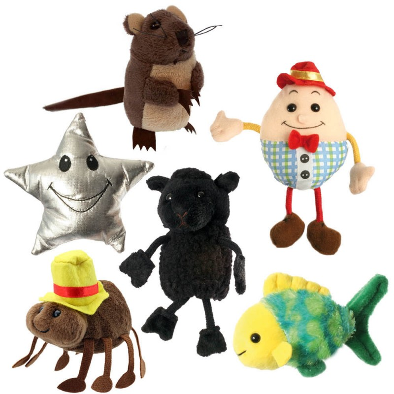 Nursery Rhymes Set Of 6 Finger Puppets
