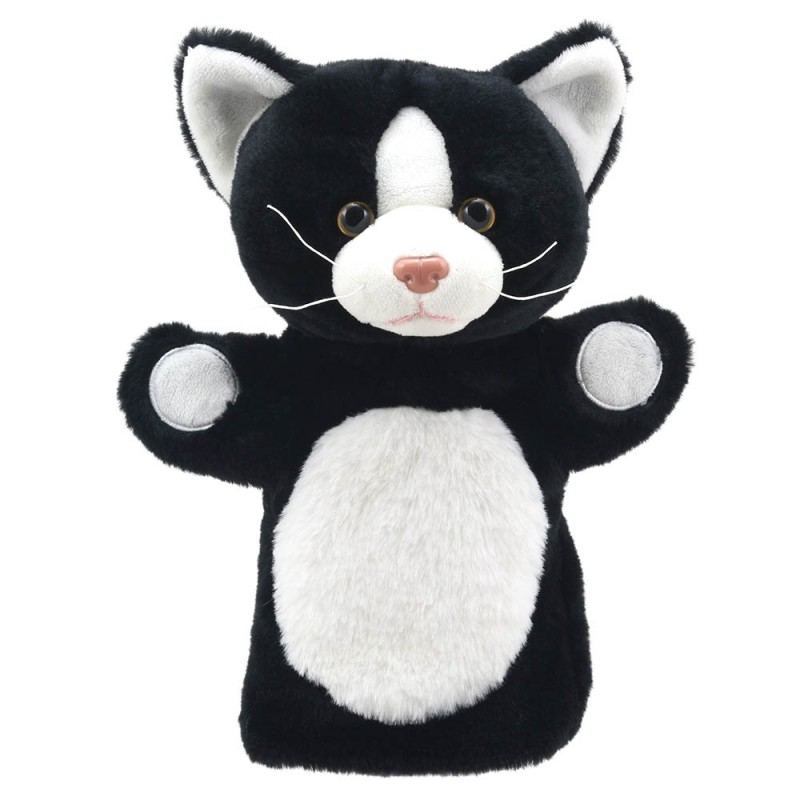 Cat (Black and White) - Puppet Buddies - Animals