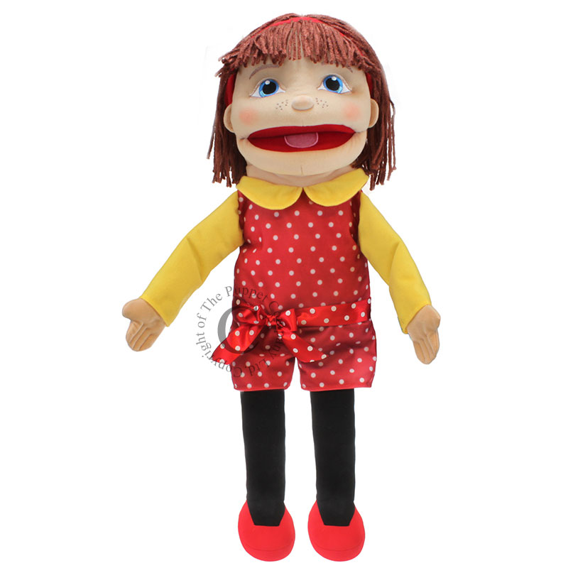 People Puppet Buddies: Medium Girl (Red/Yellow Outfit)