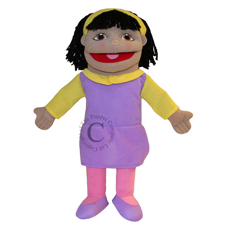 People Puppet Buddies: Small Girl (Purple/Yellow Outfit)