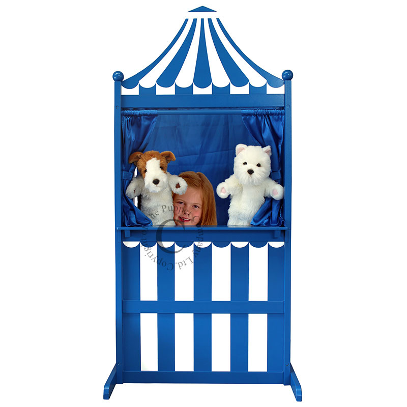 Blue & White - 3 in 1 Puppet Theatre